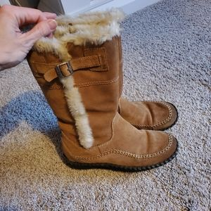 Minnetonka leather boots
